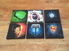 Batch 2 OF 6 SUPER HERO LOG CANVAS PICTURES 6 X 6 Each 1