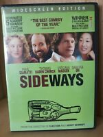 Sideways DVD Widescreen Virginia Madsen, Sandra Oh, Paul Giamatti ~DVD