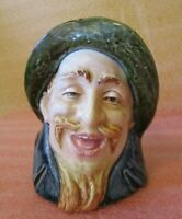 Vintage Figural BEARDED MAN Happy Fisherman Farmer Head Vase PLANTER numbered!