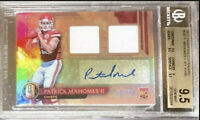 /49 POP 4 BGS 9.5/10 RC Patrick Mahomes 2017 Gold Standard Rookie Patch Auto RPA