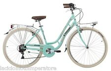 BICI MIA LADY HI-TENSION 28 CITY BIKE DONNA CINZIA COLORE VERDE PASTELLO