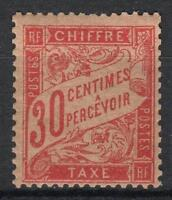 "FRANCE STAMP TIMBRE TAXE 34 "" 30c ROUGE-ORANGE "" NEUF xx  A VOIR   M065"