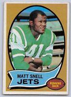 1970  MATT SNELL - Topps Football Card -# 35 - NEW YORK JETS
