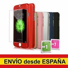 Funda hibrida para IPHONE 5 5S SE 6 6S 7 8 PLUS X XS + Cristal Templado Colores