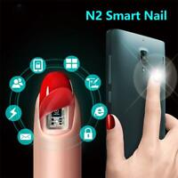 LED Light Flash Affixed Smart Nail Stickers Scintillation Tips Simulate IC Card
