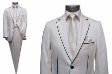 Herren Anzug Elegant Gr.46 Creme Ivory