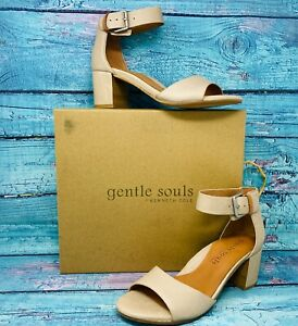 GENTLE SOULS BY KENNETH COLE Christa Leather Dress Sandals Shoe Size 8.5 M - NEW