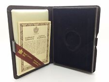 1983 Royal Canadian Mint $100 Gold Coin Proof Empty Brown Leather Box & COA