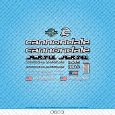 Cannondale Jekyll 1000 Bicycle Decals - Transfers - Stickers - Silver - Set 0633