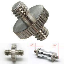 1/4'' Male to 1/4'' Male Threaded Camera Screw Adapter For Tripod Mount Stand