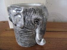QUAIL CERAMICS ELEPHANT DESK TIDY PENCIL/PEN / BRUSH POT HOLDER  NEW &BOXED