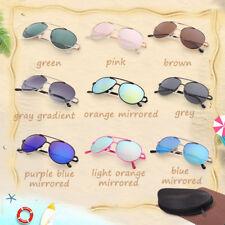 Aviator Sunglasses For Kids Boys Girls Baby Children Toddler Eye Glasses Case
