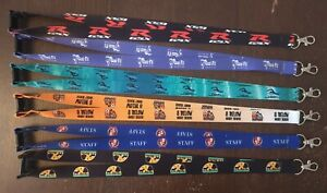 PERSONALISED COLOUR PRINTED LANYARD NECK STRAP BUSINESS CLUBS LOGO PHOTO