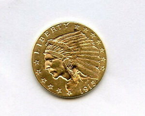 1915 2.5 Dollar $2 1/2 Gold Coin Uncirculated