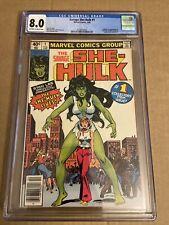 The Savage She Hulk Hulk # 1 CGC, 8.0, Newsstand Edition, TV Show Coming, Great!