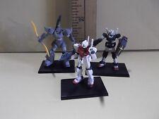 """#A447 Gundam Collection Vol.2 Mini 1.75""""in Figures 3 Gundams as Seen in Photos"""