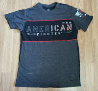 Affliction American Fighter Mens T-Shirt Red Black Size S Small Training