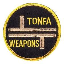 Tonfa Weapons Round Patch for Martial Arts Uniform