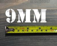 "9MM Sticker Decal 3.5"" Ammo Can Box Label Ammunition Case DIE CUT XO"