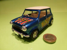 VINTAGE MORRIS MINI COOPER -  WINNER BLUE 1:24? RHD - RARE - GOOD PULLBACK