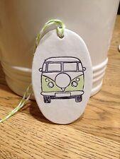 Beautiful Handmade Clay Hanging Green VW Camper Van Decoration/gift Tag New