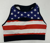 Born Primitive Small Red White Blue flag Racerback Padded Sports Bra m2