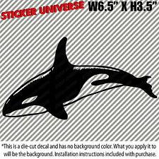 "Whale Orca Car Window Decal Bumper Sticker 6.5""X3.5"" Marine Mammal Ocean Life 10"