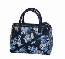 Michael Kors KELLEN XSMALL Saffiano Leather Satchel bag Navy Flower Print