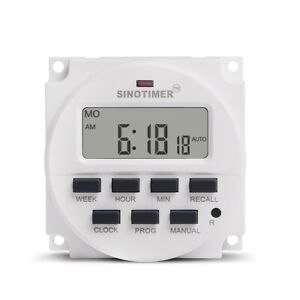 Digital Electronic Lighting Daily Timer Switch 1 Second Interval Programmable
