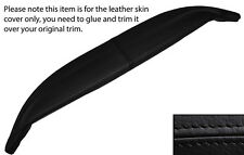 BLACK LEATHER TOP DASH DASHBOARD LEATHER SKIN COVER FITS JAGUAR E TYPE