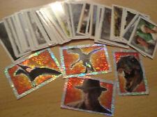 61x Jurassic Park III Merlin Collection Sticker Sammelalbum Aufkleber Glitzer