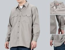 Dickies Hemd Longsleeve Work Shirt/Hemd Silver/hellgrau Größen: S bis 3XL(44-66)