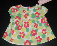 NWT: New 6-12 Month Gymboree Pink & Green Flower Shirt