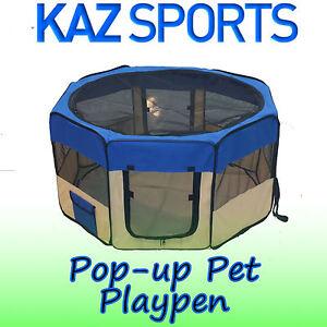 POP UP PET PLAY PEN FOR DOG PUPPY CAT RABBIT GUINEA PIG SOFT FABRIC PLAYPEN RUN