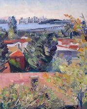 Oakland View of San Fransisco Bay Plein Air Impressionism Landscape John Kilduff