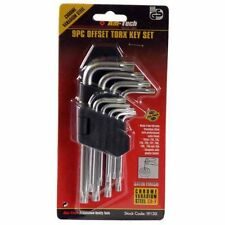 AM-TECH 9PC OFFSET TORX STAR KEY SECURITY ANTI TAMPER TORQUE SET HOLDER I9130