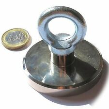 Super Magnete al Neodimio OTN-63 POTENZA 110 Kg CON OCCHIELLO IN ACCIAIO ZINCATO