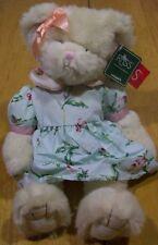 "RUSS Amram's SERENA TEDDY BEAR IN FLOWER DRESS 12"" Plush STUFFED ANIMAL Toy NEW"