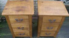 PAIR OF NEW SOLID WOODEN BEDSIDE END CHESTS CABINETS RUSTIC PLANK PINE FURNITURE