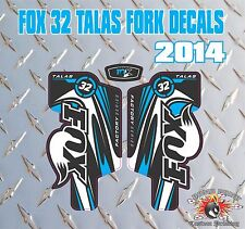 Fox 32 FORK Talas Stickers Decals Graphics Mountain Bike Down Hill MTB blue
