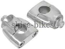 Empotrado Manubrio Riser abrazaderas adecuado para uso con mono de moto Motos