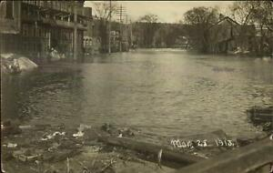 Dayton OH Area Flood March 28th 1913 Real Photo Postcard