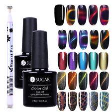 3Pcs/Set UR SUGAR Nail UV Gel Polish Cat Eye Magnetic Black w/Magnet Stick