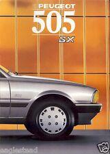 Auto Brochure - Peugeot - 505 SX - 1988 - Francais French language (AB454)