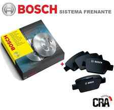 DISCOS de FRENO+PASTILLAS BOSCH FIAT BUEN CHICO II 1.9 MTJ 110 kW 07 DELANTERO