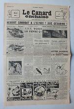 ANCIEN JOURNAL -  LE CANARD ENCHAINE N° 1724 DU 4 NOVEMBRE 1953  *