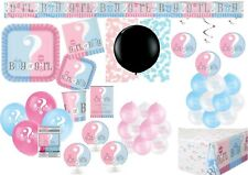 Gender Reveal Girl or Boy? Baby Shower Balloons Tableware Supplies Decorations