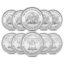 Lot of 10 - A-Mark 1 oz Silver Round .999 Fine