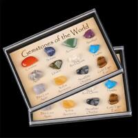 15PCS Stones Polished Healing Crystal Natural Gemstone Collection Stone Kit Set