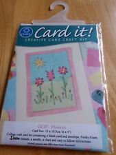 Collage & Stitch Kit Coats flowers card GC07